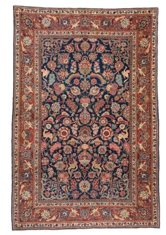 Lot 75. Kashan 205 x 134cm (6ft. 9in. x 4ft. 5in.), Persia ca. 1930
