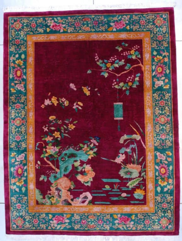 Art Deco Chinese Size 271 x 347 cm - New York International Carpet Show and the Antique Pavillion