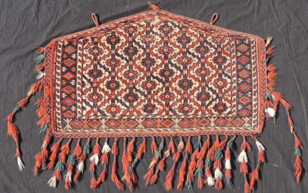 Lot 341, an antique Yomud Asmalyk, second half 19th century. 63 cm x 109 cm