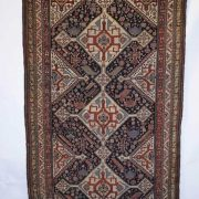 Rug by the Arab-cherpanlu tireh of the Sheshboluki taifeh of the Qashqa'i Confederation, Fars, south west Persia, last quarter 19th century, 9ft. 6in. x 5ft. 3in. 2.90m. x 1.60m. Estimate: £3000-4000