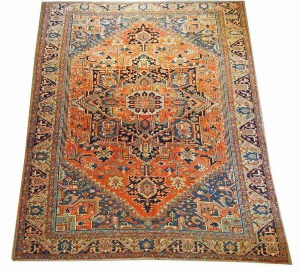 Lot 312, a Heriz carpet, circa 1920, 370 x 287 cm