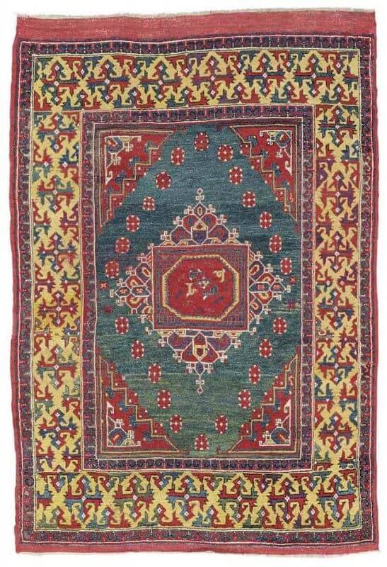 West Anatolian Ghirlandaio rug late 17th century