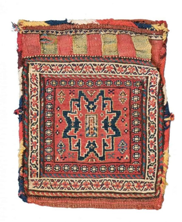Lot 101. Shahsavan Sumakh Bag 35 x 30 cm (1ft. 2in. x 1ft.). Azerbaijan, late 19th century. Provenance: Siawosch Azadi. Estimate: € 600 – 800