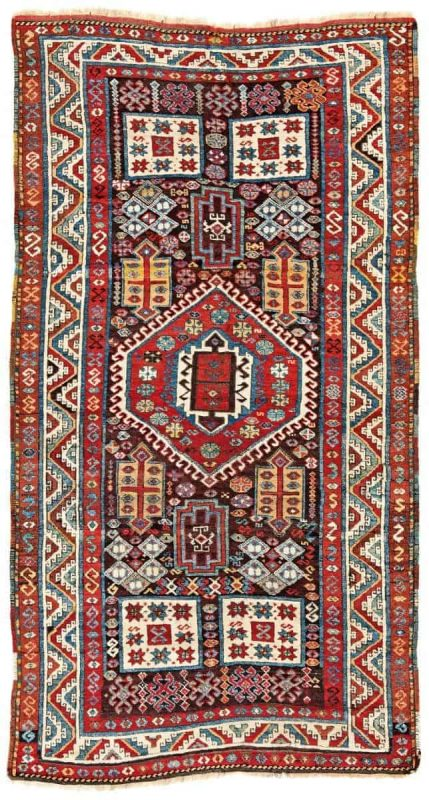 Lot 168. East Anatolian Kurdish Rug. Turkey mid 19th century 215 x 116 cm (7ft. 1in. X 3ft. 10in.). Provenance: Austrian private collection. Estimate: € 5.000 – 7.000