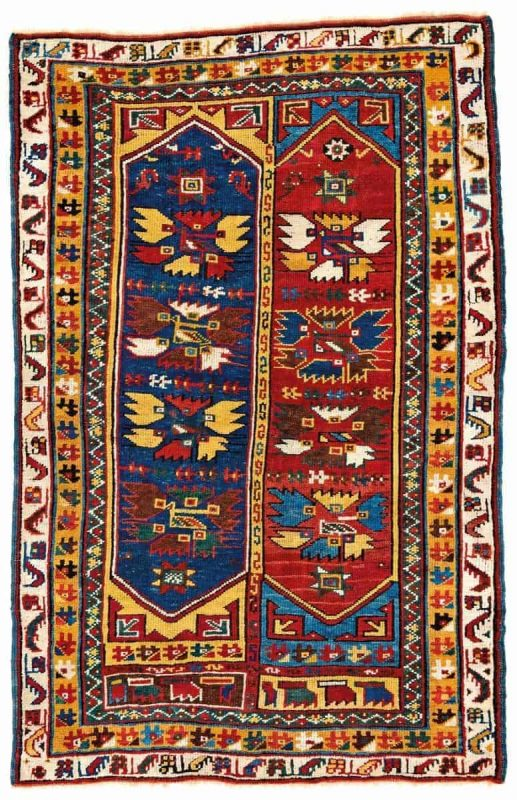Lot 179. Megri rug. Turkey second half 19th century 171 x 111 cm (5ft. 7in. X 3ft. 8in.). Provenance: Austrian private collection. Estimate: € 3.500 – 4.500