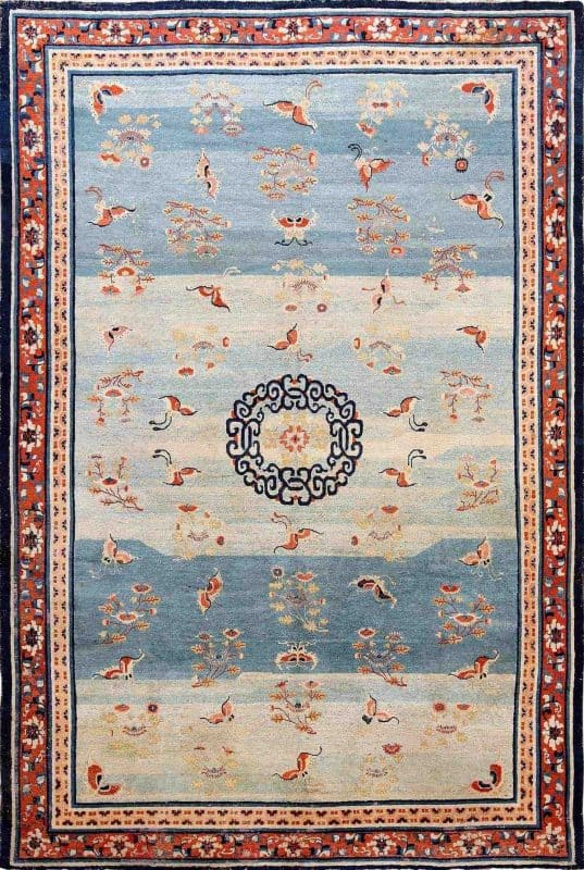 Early Kansu Carpet. Nazmiyal Collection