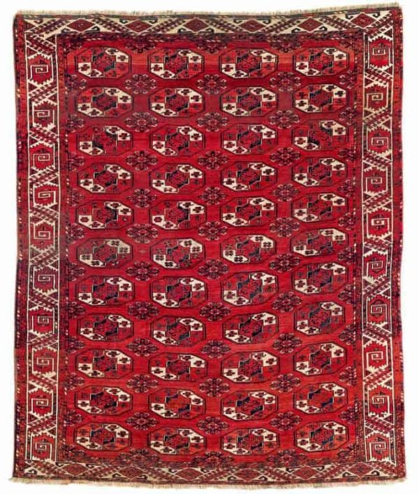 Lot 182. Kizil Ayak main carpet 253 x 211 cm. Mid 19th century. Estimate EUR 5,400.00