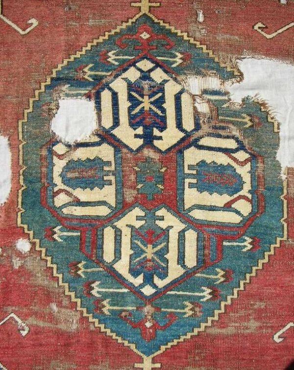 18th C. Karapinar Rug Fragment. Exhibitor Patrick Pouler