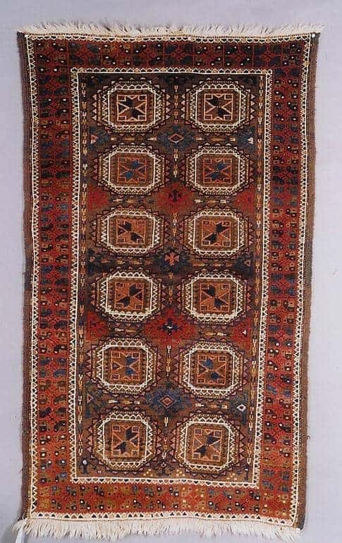 19th century Baluch rug exhibited by Ron Hort