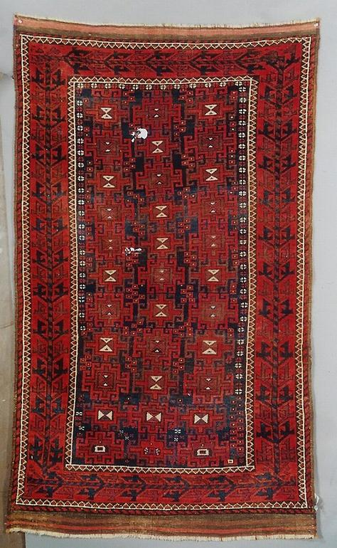 19th century Baluch rug. Exhibitor Ron Hort
