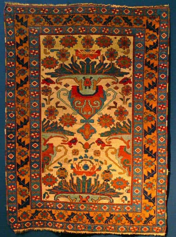 Early Afshar rug vase design. Exhibitor Michael Craycraft - Afshar rugs