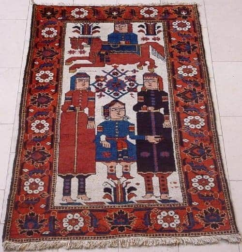 Old Ferdows (Firdaus) pictorial rug