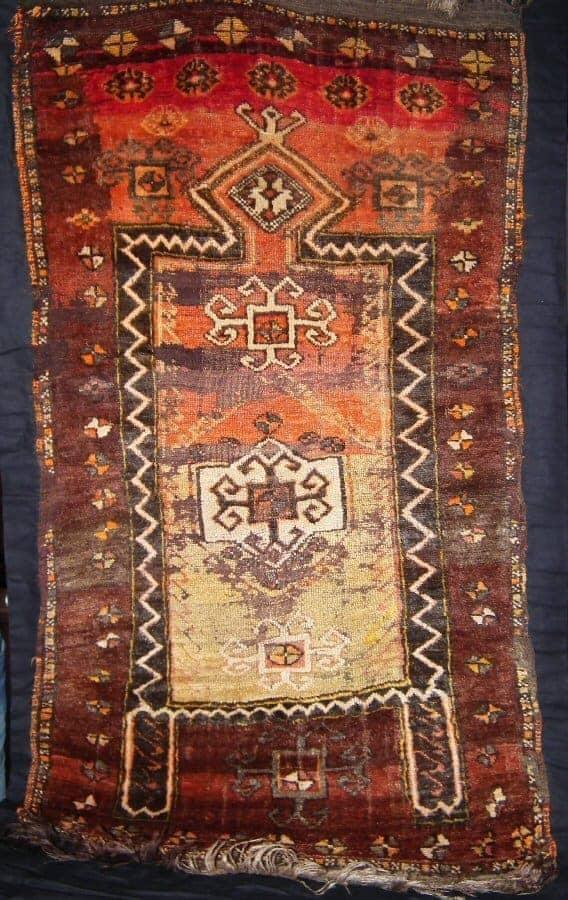 Kurdish prayer rug. Bingöl, East Anatolia circa 1875. Collection of Sonny Berntsson.