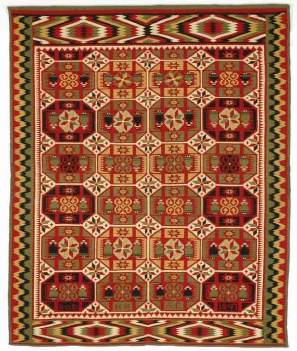 Swedish flatwoven bridal cover dated 1847. Exhibitor Amin Motamedi