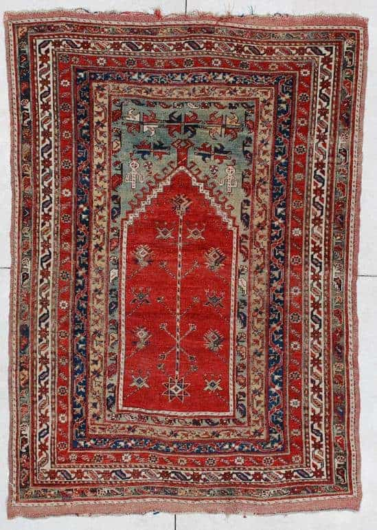 Early 19th Century Central Anatolian rug comes from the village of Kavak near Konya