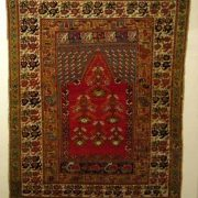 Ghiordes prayer rug from the 19th century.