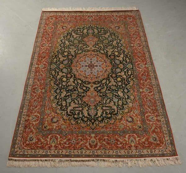 Signed Persian Isfahan carpet