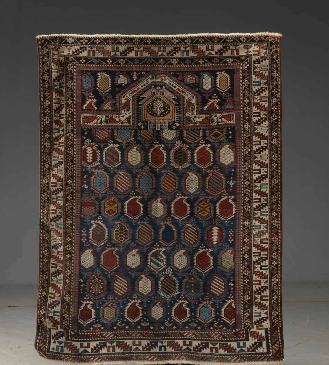 Antique Caucasian Marasali prayer rug