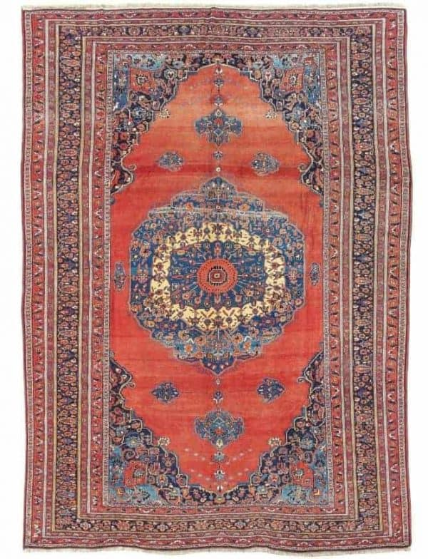 Lot 77, a Bijar,Northwest Persia (Iran), c. 444 x 317 cm, dated 1903.