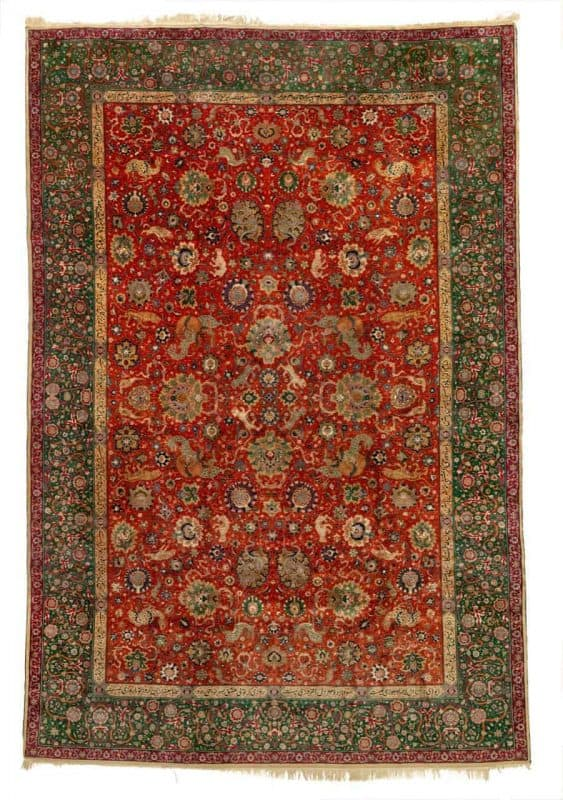 Tabriz Hunting carpet