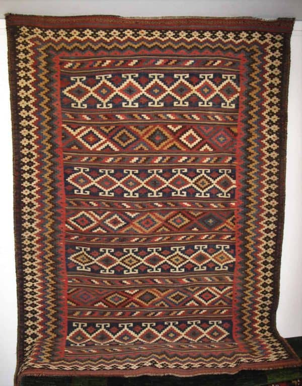 Bakhtiar kilim 600x766 - Chahar Mahal Va Bakhtiari - Meeting in the Danish Rug Society
