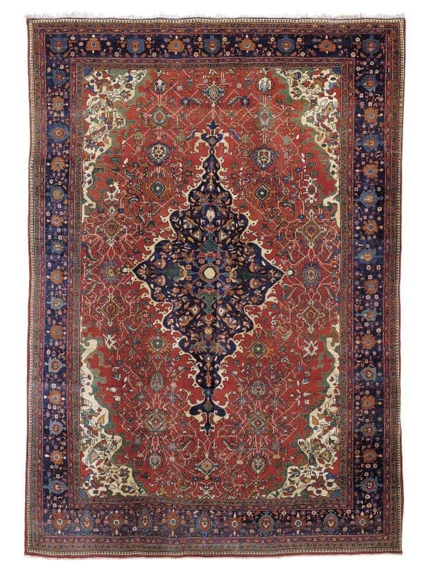 Lo 243 Sarouk Fereghan carpet West Persia circa 1890 600x794 - Art of the Islamic and Indian Worlds Including Oriental Rugs and Carpets