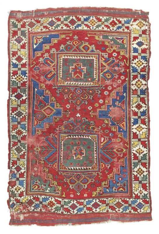 Lot 232 Ghirlandaio rug Bergama West Anatolia 18th century 545x800 - Art of the Islamic and Indian Worlds Including Oriental Rugs and Carpets