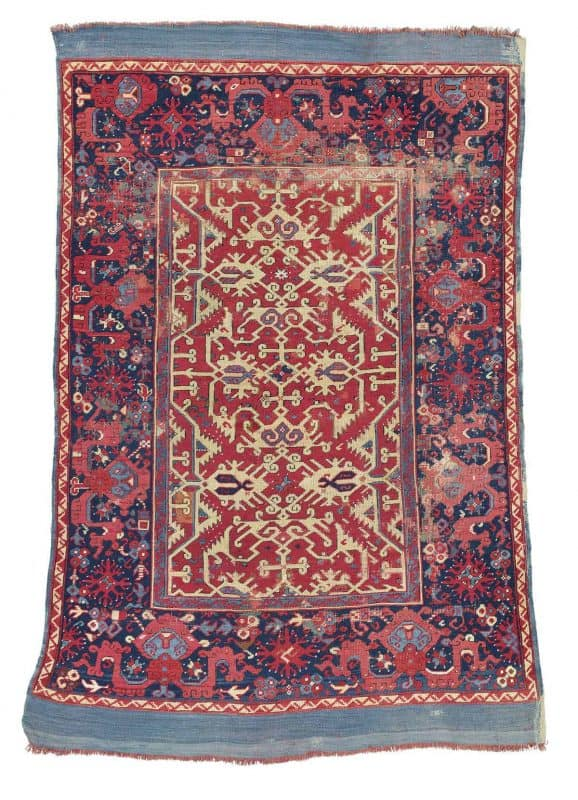 Lot 237 Lotto rug probably Ushak West Anatolia first half 17th century