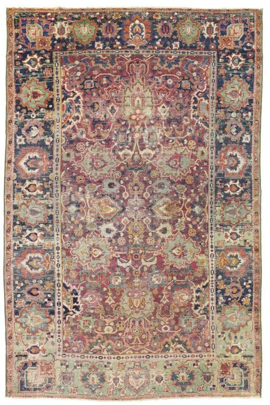 Lot 257 Safavid Isfahan rug Central Persia 17th century