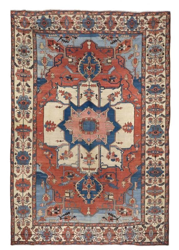 Lot 295. Bakshaish carpet West Persia circa 1880 574x800 - Art of the Islamic and Indian Worlds Including Oriental Rugs and Carpets
