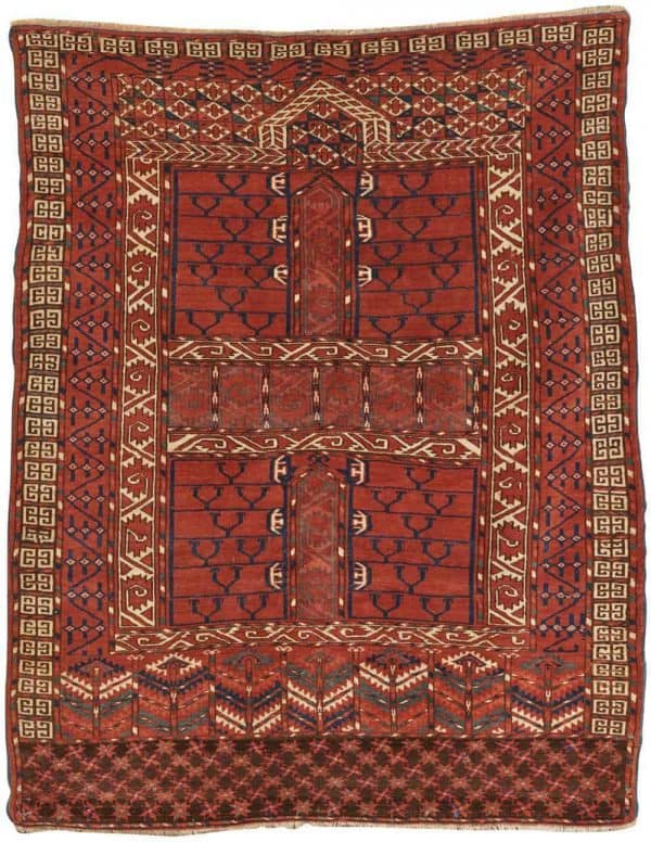 Turkoman ensi. Grogan Spring Auction including antique carpets