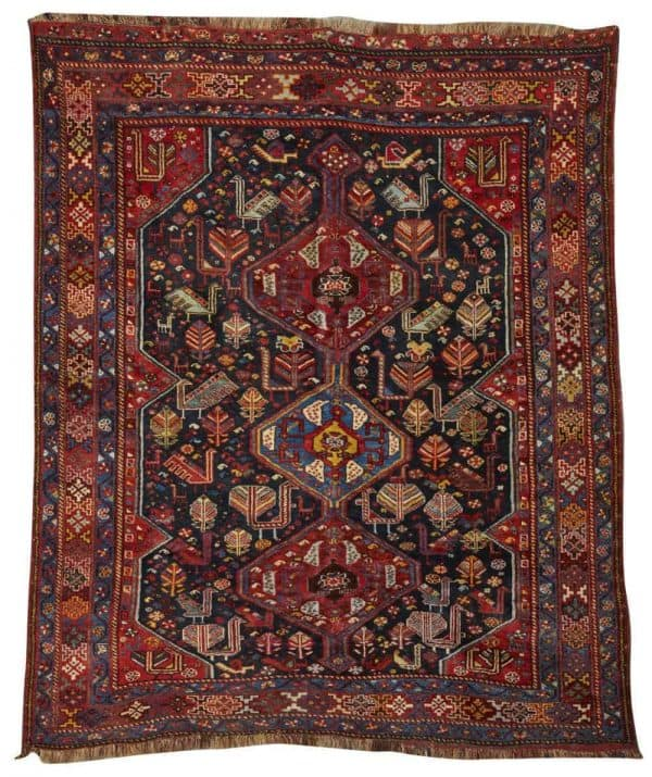 Lot 355 Kampseh rug. Grogan Spring Auction including antique carpets