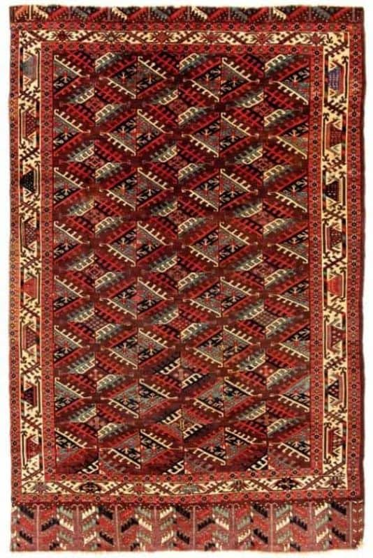 Yomut Main Carpet. Antique oriental rugs including Turkmen rugs from Siawosch Azadi