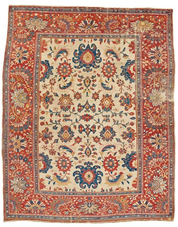 Lot 274. An antique Persian Ziegler Mahal. Bukowskis sale including carpets and textiles