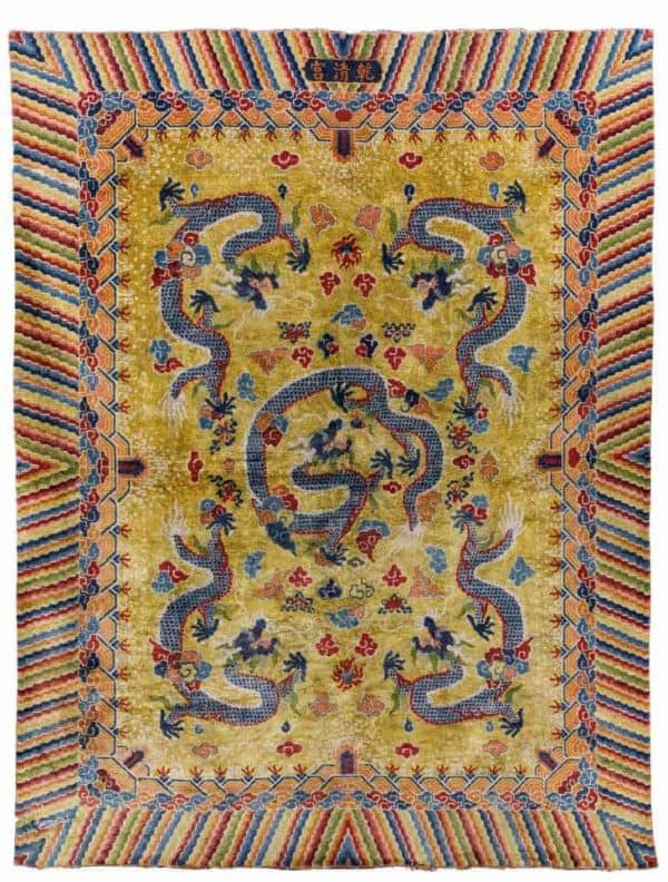 Palace carpet, Peking. Antique Rugs and Carpets at Wannenes