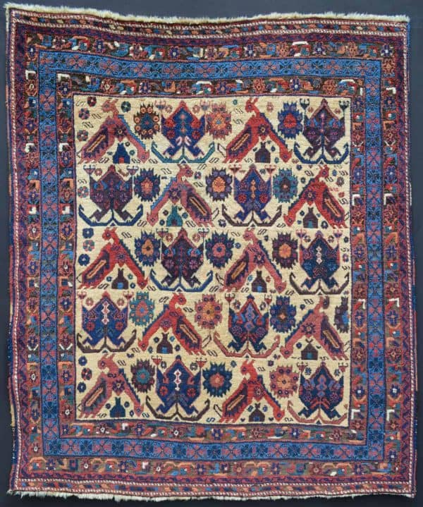 Afshar Rug, Kerman Province, South Persia, Last Quarter 19th Century. Exhibitor Brian McDonald at Hali Fair