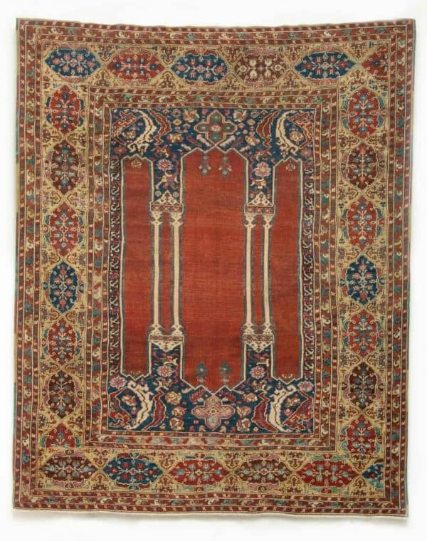 Anatolian rug LADIK Double Column – mid XVIII Century. Lombardo Partners at Hali Fair