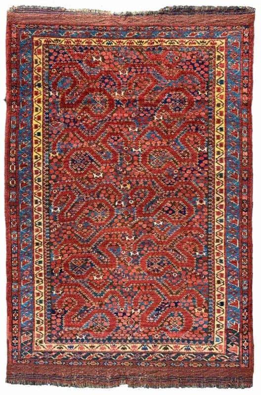 Central Asian Beshir cloudband rug 19th century 142x100cm. Serkan Sari 2 528x800 - Hali Fair preview
