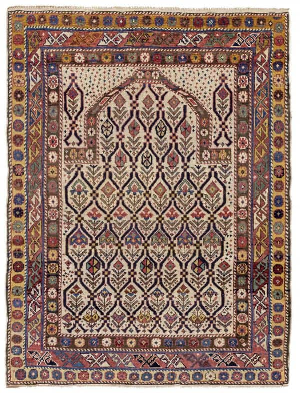 Dagestan prayer rug 134 x 105 cm Memarian 1 600x784 - Hali Fair preview