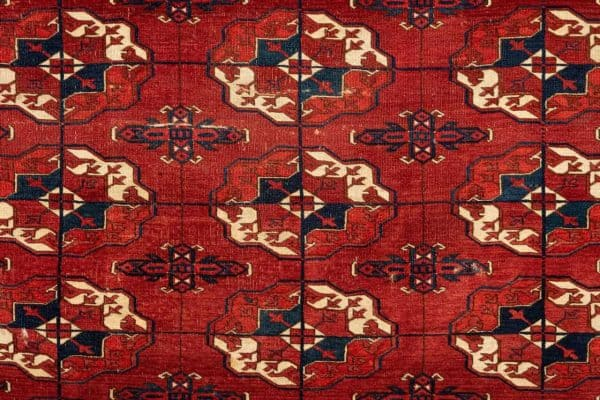 Turkmen carpet fragment. 19th century 146 x 71 cm. Joss Graham at Hali Fair