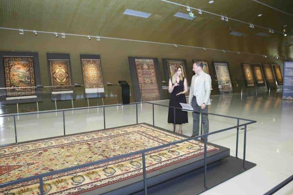 Exhibition of Azerbaijani carpets from the Louvre Museum