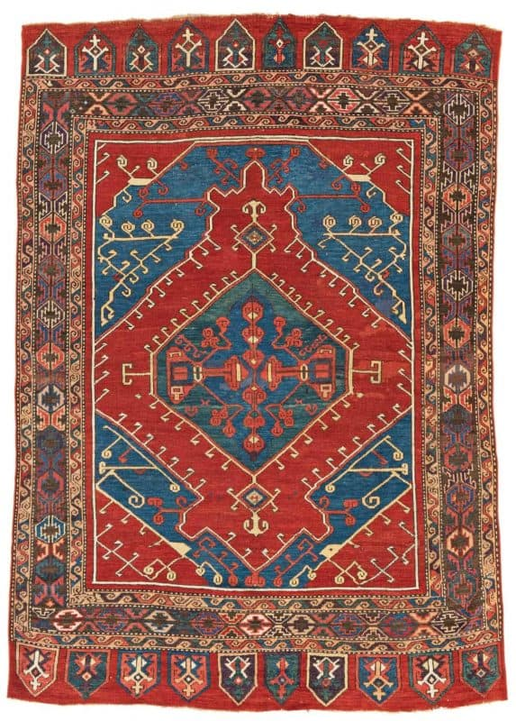 14 Central Anatolian rug 573x800 - Antique rugs - Masterpieces of an Austrian Private Collection