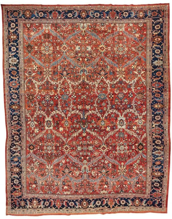 328 antique mahal ziegler 600x764 - Bukowskis winter sale including carpets