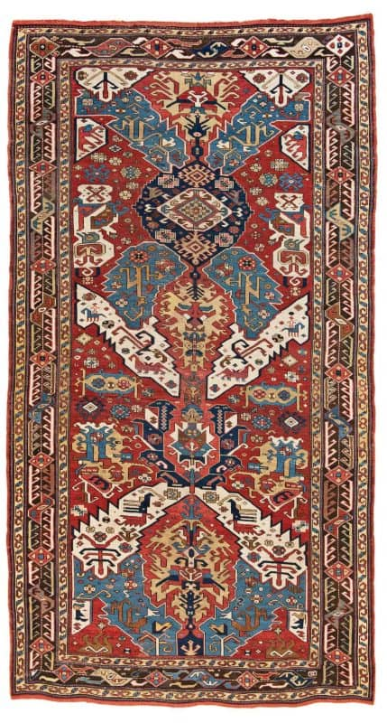 Lot 15 Caucasian Dragon carpet 429x800 - Antique rugs - Masterpieces of an Austrian Private Collection