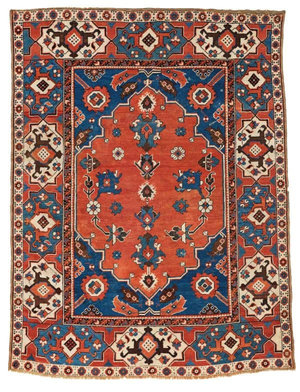 Lot 20 Transylvanian Double Niche rug 600x784 - Antique rugs - Masterpieces of an Austrian Private Collection