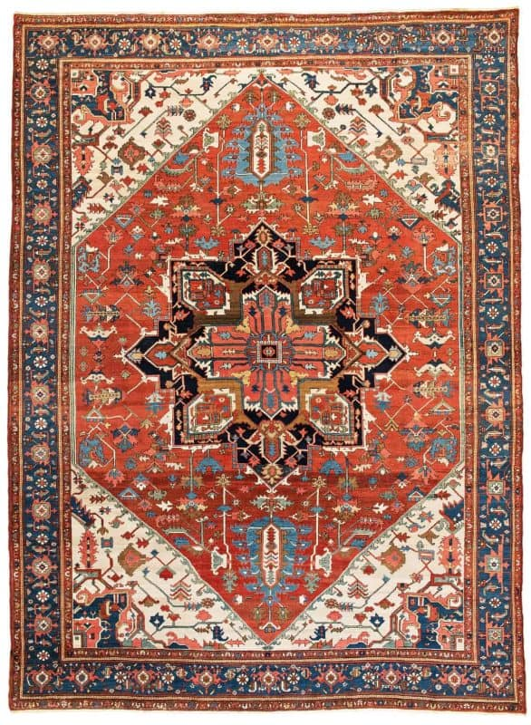 Lot 30 Heriz carpet 586x800 - Antique rugs - Masterpieces of an Austrian Private Collection
