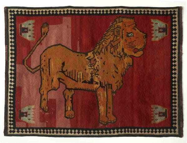 LARTA 2020 Carpet Restoration Studio Gabbeh Lion rug 8225 600x458 - Larta preview - antique rugs and textiles