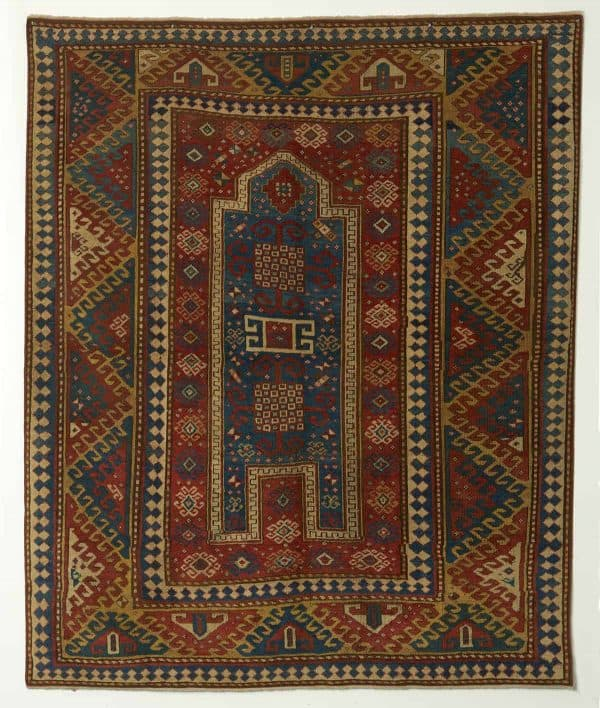 Antique Bordjalou Kazak Rug, Second half of 19th century (1860) South-West Caucasus. Size: 2.02m X 1.79m. Price: £6750.00. Exhibitor Seneh Carpets