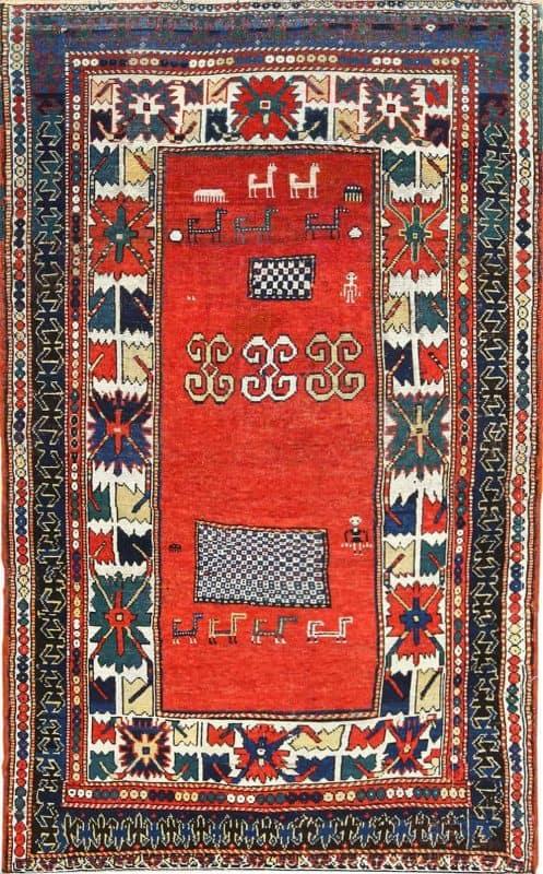 antique caucasian kazak nazmiyal 497x800 - Antique & Vintage rugs from Various Estates and Nazmiyal Collection