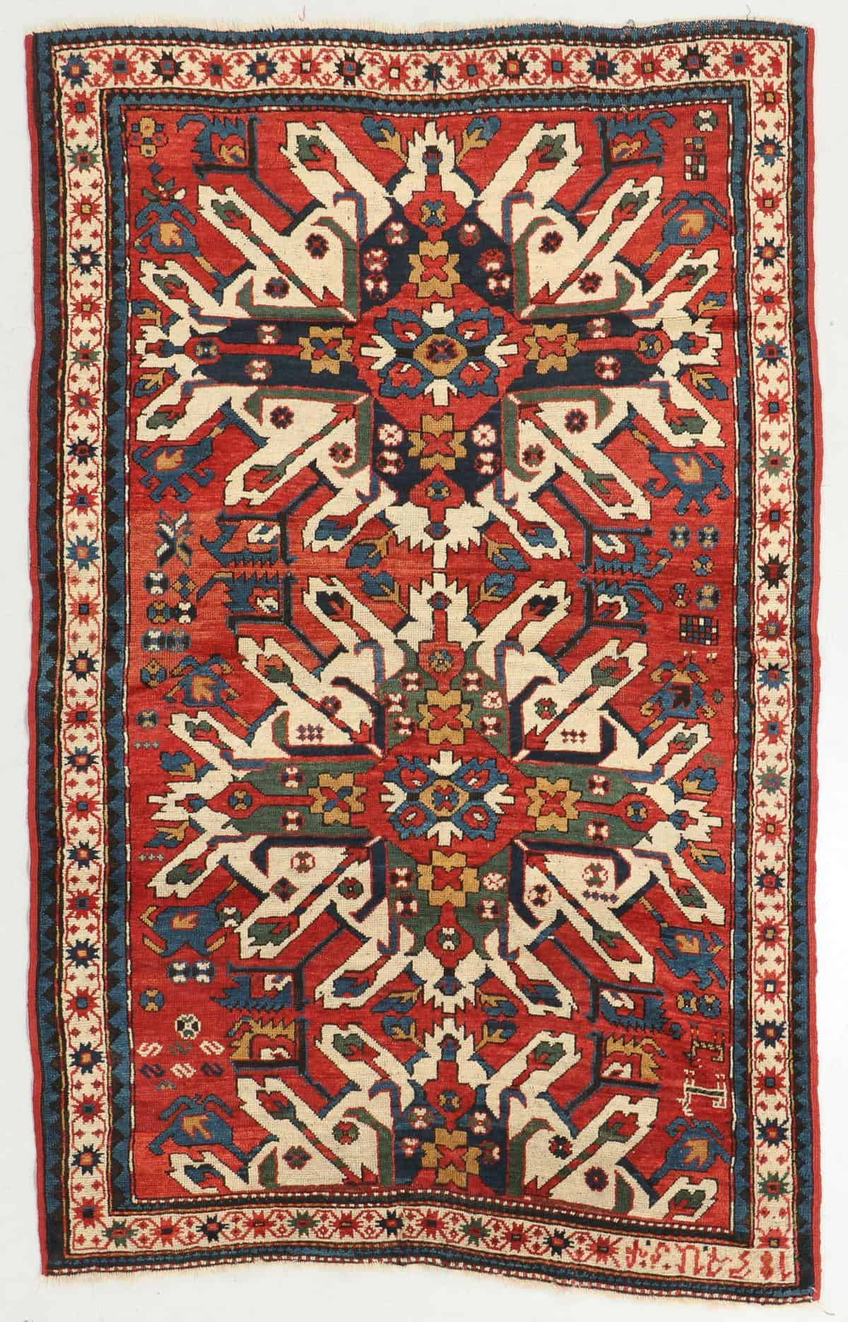 Antique Armenian Eagle Kazak Rug